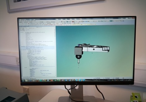Screen shot of PCDMIS showing a CAD model