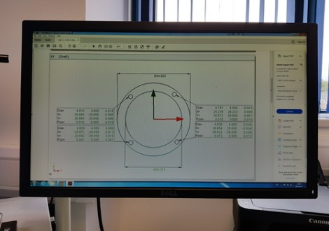 VMM measurement report displayed on pc screen