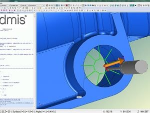 QCI screenshot of CMM software using CAD to measure aerospace components QCI Inspector checking a fleet of London underground trains Cad, computer aided design , diameter , true position , aerospace, measurement pc dmis qci metrology supplier metal material training course cmm cmm level 1 level 2 best price engineering drawing vmm sample points rotary systems customer reports fantastic service workplane offer key features rail aerospace quality check visual inspection bore hole under frame