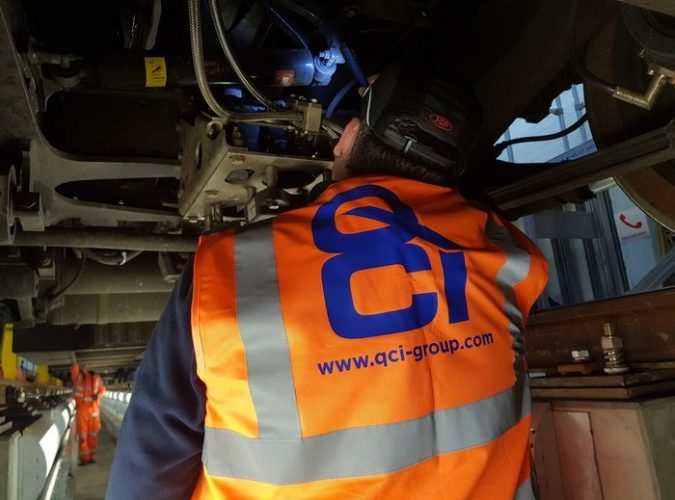 quality inspection services - qci auditor under a train checking for modification status inline with the customers requirements