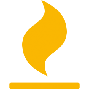 oil and gas orange icon